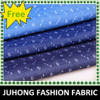 Wholesale popular style cheap jacquard stretch denim fabric