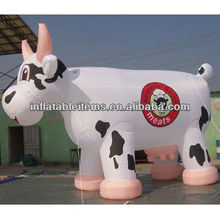 large inflatable advertising cow