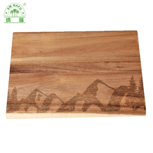 High quality thick acacia wooden cutting board for restaurant