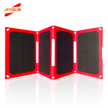 ETFE protable 25W fast charging foldable solar panel charger supports 5V,9V,12V smart identification solar folding bag