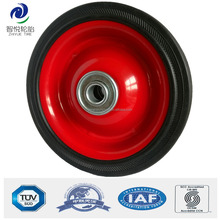 5 inch solid rubber wheel with bearing for luggage trolley