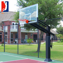 basketball hoop glass board with 10mm tempered glass backboard for residential indoor playground equipment