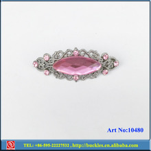 pink glass rhinestone shoe buckle for sandal