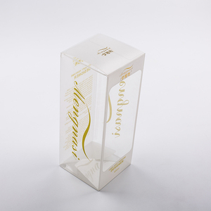 Custom printing storage plastic cosmetic gift transparent perfume packaging clear pvc box