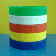 Promotional 12mm debossed silicone bracelets, Free samples silicone wristbands, Solid color silicone bracelets