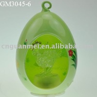 Spring Easter egg with LED light and chick inside