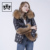 fashion warm black goose down jacket winter hooded down jacket or women