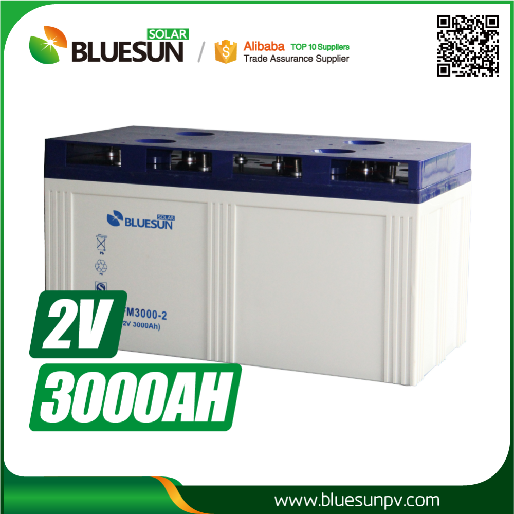 2V 3000AH Solar Battery Price Solar Power Plant Charge Battery