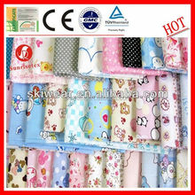 wholesale customized antibacterial cotton fabric twill for baby clothes