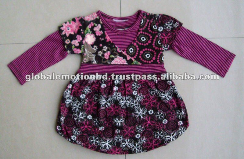 Baby girls' dress, kids Bud skirt BUR long sleeve children dress