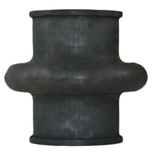 dn125x3m reduction noise ansi reducer flanged rubber lined pipe fitting