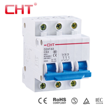 High quality 3 phase miniature circuit breaker