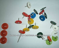 plastic round cap nails/nail factory