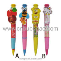 Hello kitty clip ball pen/custom model clip ball pen/plastic clip ball pen