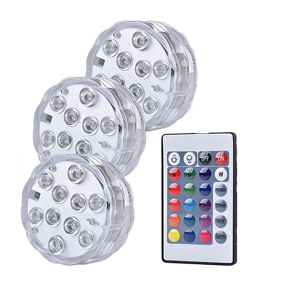 High Quality best price submersible led lights for any water filled table centerpiece