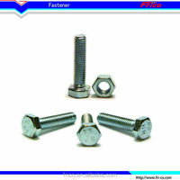 Professional stainless steel DIN961 hexagon head screw with metric fine pitch thread