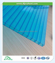 Transparent twin wall polycarbonate panels 2100mm*5800mm for balcony roof covering