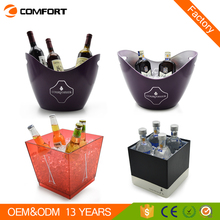 2017 new beer champagne plastic wine cooler bar ice buckets