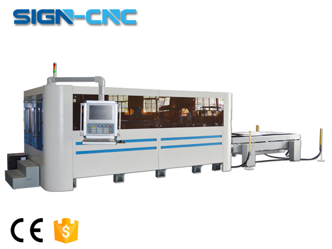 1000W Sign-1530 Full cover fiber laser machine for metal cutting