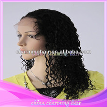 top quality virgin curly human hair full lace and lace front wig