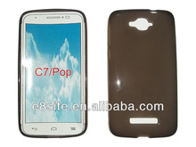 For Alcatel One Touch Pop C7 Plain Cellular Rubber Cover