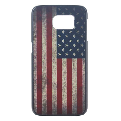 American US Flag Printable Mobie Phone Case Hard Plastic Cover for Samsung Galaxy S6