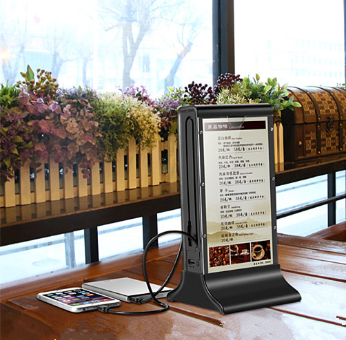 Innovative Product Latest LCD Screen Table Display Holder Restaurant Acrylic Menu Stand