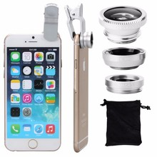 Universal Clip Wide Angle Fish Eye Macro 3 in1 mobile camera lens