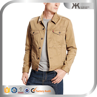 Classic design high quality CVC fabric casual denim jacket men 2016
