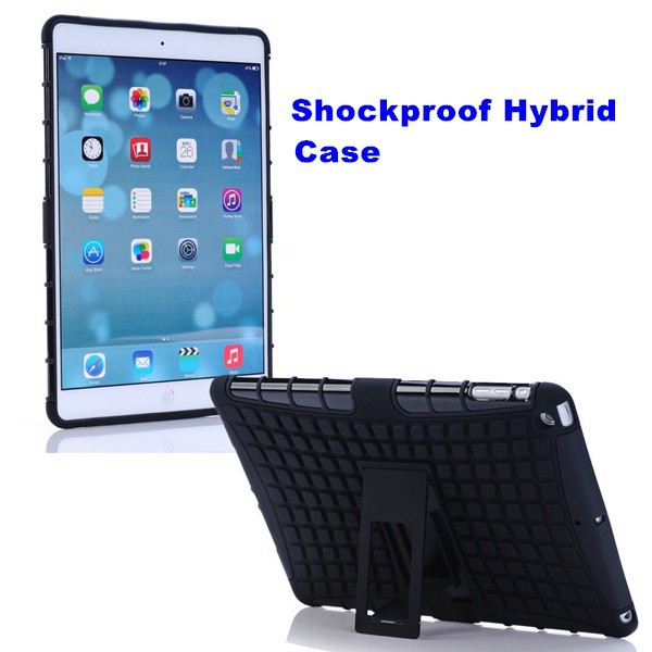 Heavy Duty Hybrid Shock Proof Stand Cover Case for Ipad Air 2 New Products