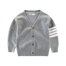 Wholesale cotton knitted plain cardigan boys sweater designs for kids
