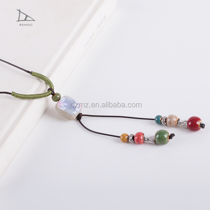 Handmade fashion Ceramic colorful Beaded Necklace, Wonderful Wholesale Statement Necklace