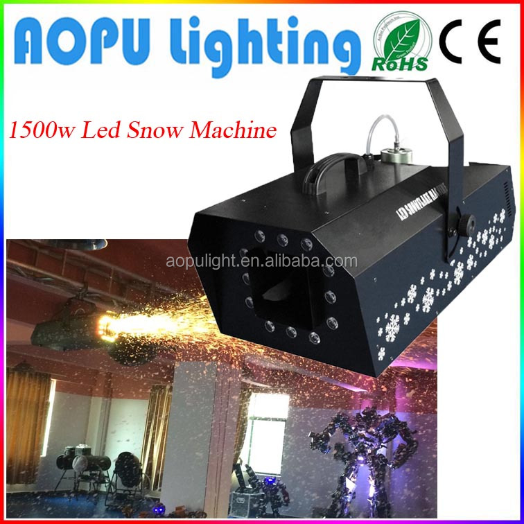 Led 1500W snow machine stage light