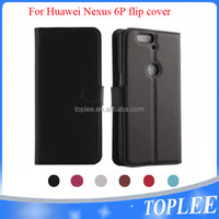 hot sale PU leather wallet flip cover for Huawei Nexus 6P case