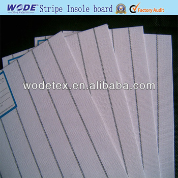 Wodetex Good Quality While Stripe Insole Board for Shoe Insole Making Materials