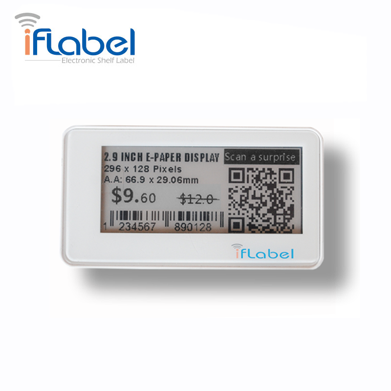 Bluetooth electronic shelf label digital tag for supermarket esl price
