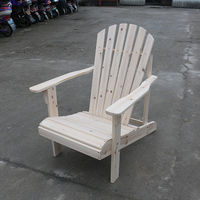 Outdoor Patio Wooden Adirondack Chair