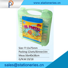 Popular for the market school stationery Cute plastic oil pastel for kids promotional gifts