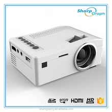 UNIC Small Battery inside Mini HD LED Projector UC18 Pocket Projetor de slides