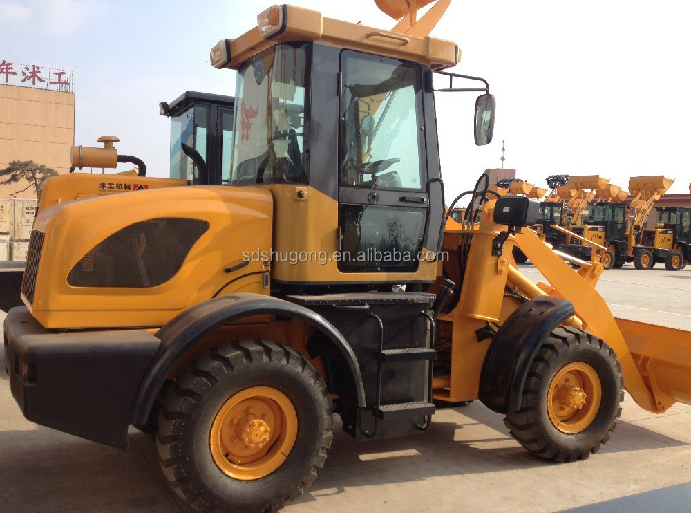 1.6Ton mini wheel loader/ZL916 small loader with joystick/pallet fork wheel loader ZL16/snow blade mini loader ZL16F for sale