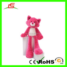 LE Good quantity lovely PV fleece red long leg cat of plush toy for gift