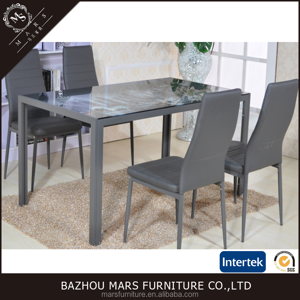 Wholesale glass top metal base dining table for dining room furiture buy glass top metal base - Buying a dining room table ...