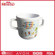 High grade two handled personalized melamine 3d kids personalized plastic mugs