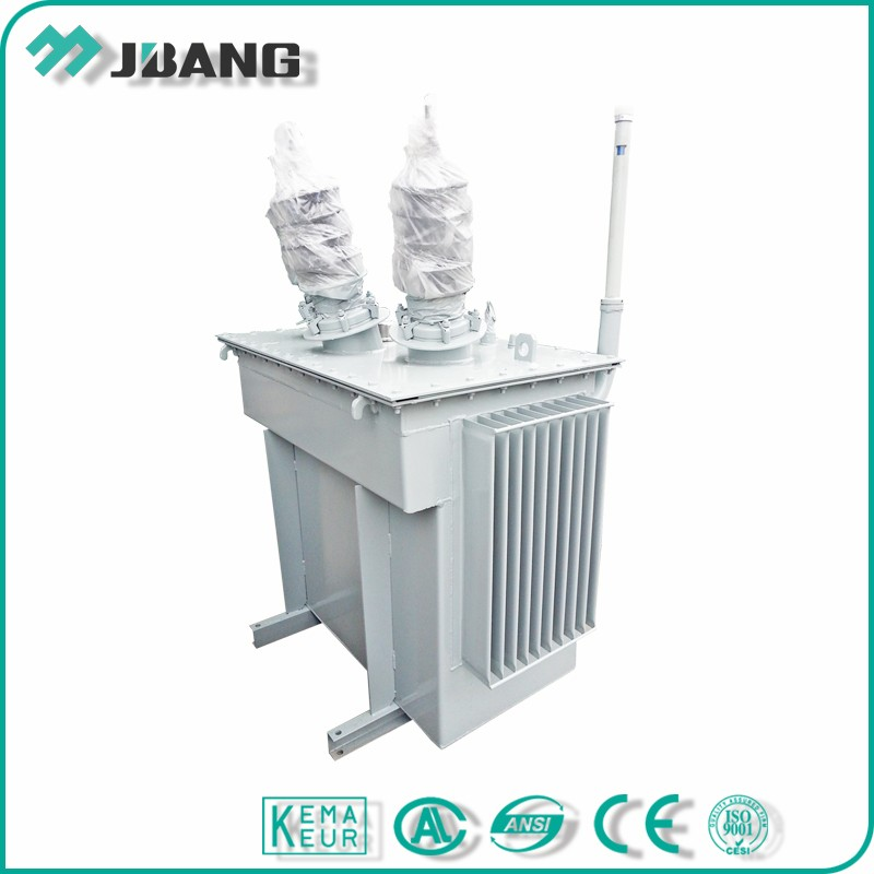 Pole mounted 33KV 50 kva three phase oil cooled transformer manufacturer