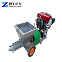 Cement mortar plastering machine with strong stator and rotor