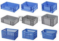 Industrial Multiple Usage Crates, 4-170litres.Capacity, PP or HDPE,Collapsible, Anti-static