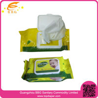 wholesale baby product non-alcoholic antibacterial wet wipes for cleaning