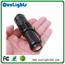 7W 1200LM Mini Adjustable Focus Zoom LED Flashlight tactical led flashlight