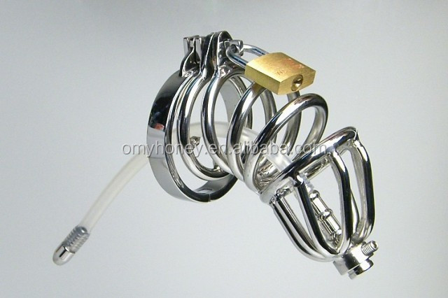 Stainless steel new design cock cage penis ring cage, lockable dildo cage ring, sex toys sex products <strong>M001</strong>