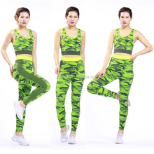 Ladies camouflage sport fitness yoga wear set